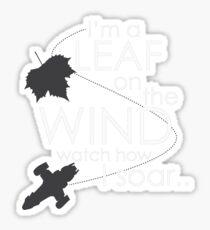 Leaf on the Wind Sticker