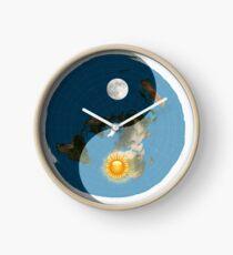 Die Sonne steht nie auf der flachen Erde Uhr