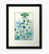 Why Watermelon Drop from Bottle? Framed Print