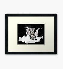 Tabby Angel Cat Framed Print