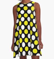White-Yellow Polka Dot Big A-Line Dress