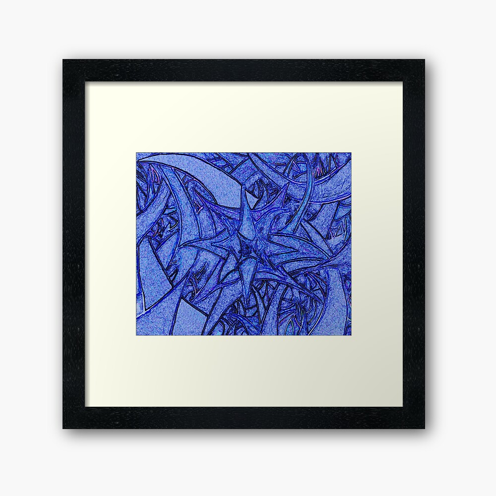 Unknown Internal Vision [Abstract #52] BLUE Framed Art Print
