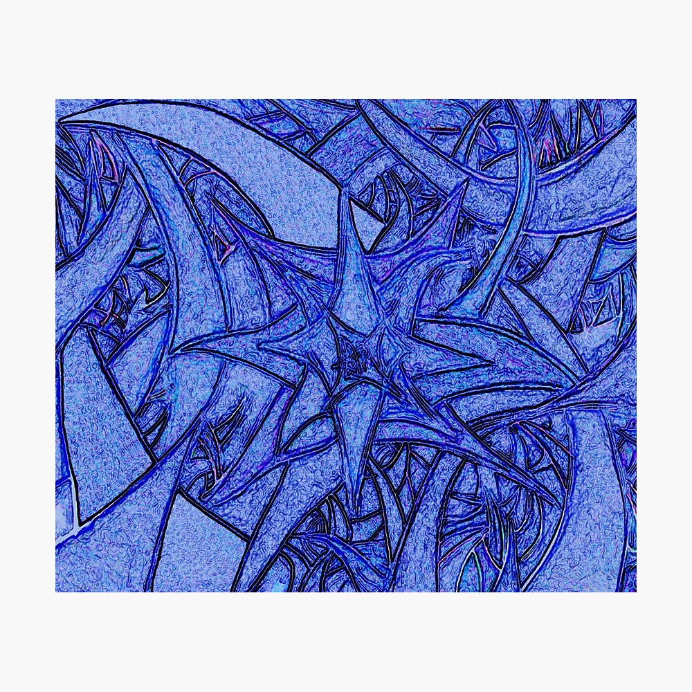 Unknown Internal Vision [Abstract #52] BLUE Photographic Print