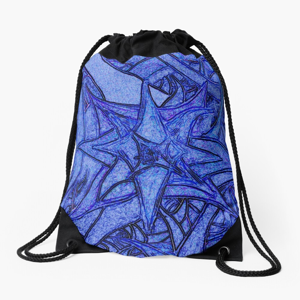 Unknown Internal Vision [Abstract #52] BLUE Drawstring Bag