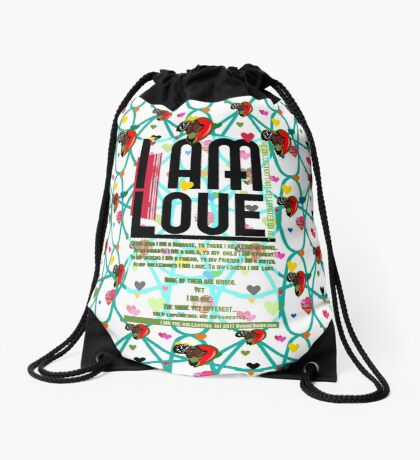 I am Love Drawstring Bag
