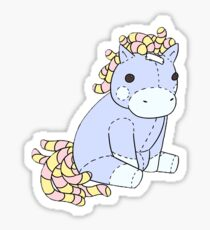 Taffy the Hornless Unicorn (Small) Sticker