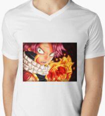 Natsu Dragneel T-Shirt mit V-Ausschnitt