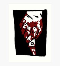 Bloody Knife Art Print
