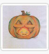 Calcifer in a Pumpkin Sticker