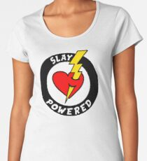 """State Of Slay """"Slay Powered"""" - To Benefit Battered Women Support Services (Black) Women's Premium T-Shirt"""