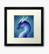 Blue Dragon- Saphira Framed Print