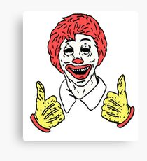 Decaying Ronald Canvas Print