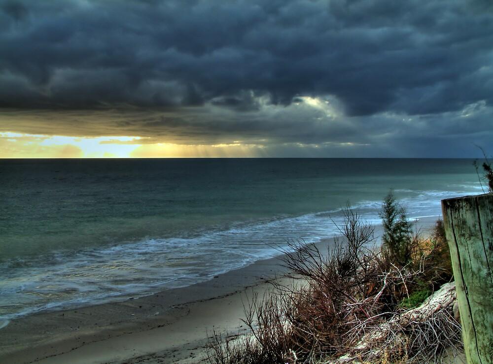 West Beach Storm by Rod Wilkinson