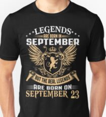 Legends Are Born On September 23 T-Shirt