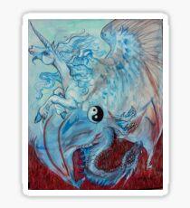 Unicorn and Dragon Yin Yang Sticker