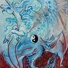 Unicorn and Dragon Yin Yang by Stephanie Small