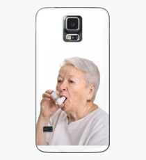Old Lady with Inhaler Case/Skin for Samsung Galaxy