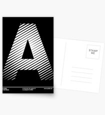 The letter A Postcards