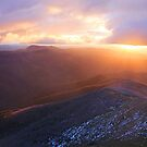 Sunset from Mt Hotham by Robyn Lakeman