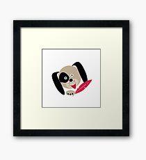 Cute cartoon dog Framed Print