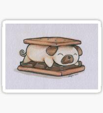 Toasted Pug Sticker