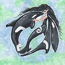 Mermaid Fairy and Orca Dance by Stephanie Small