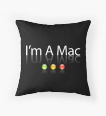 I'm A Mac White Text Throw Pillow