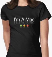 I'm A Mac White Text Womens Fitted T-Shirt