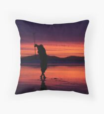 Twirling Fire Throw Pillow