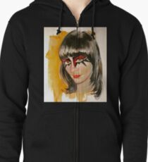 Mother Feather Zipped Hoodie
