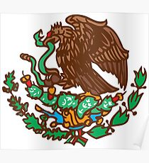Mexico Eagle - Coat of Arms - Escudo Mexicano Poster