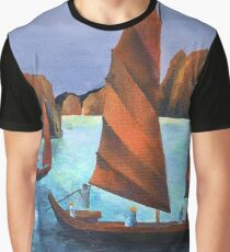 Junks In the Descending Dragon Bay Graphic T-Shirt