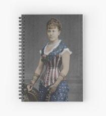 Patriotic Corset Spiral Notebook