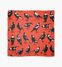 MAGPIES - Australian native birds (red or pink) Scarf