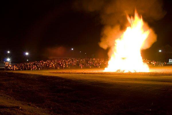 School Bonfire by Miguel Romo