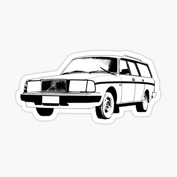 Volvo Brick blue decal sticker tank 240 242 140 740 940 960 244 245 race car