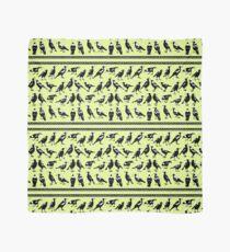 MAGPIES - border (citrus greens) Scarf