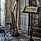 Victorian Harp, Music Room, Lambert Castle, Paterson NJ USA by Jane Neill-Hancock