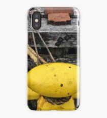 Mooring Rope On Yellow Bollard iPhone Case