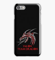 I'm On Team Dragon, Artistic Dragon Graphic Design iPhone Case/Skin