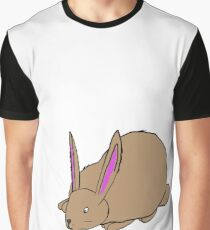 Bunny is Watching, cute bunny rabbit snuffling around Graphic T-Shirt