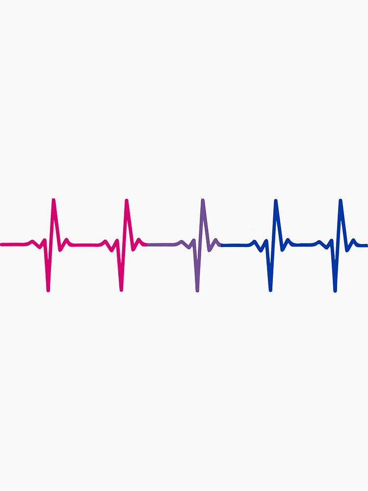 Bisexual Pride Heartbeat Pulse by thingsandthings