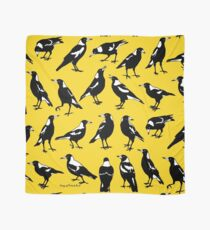 MAGPIES - Australian native birds (yellows and gold) Scarf