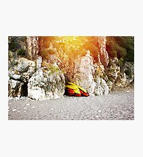 Mountain beach, eco travel  Photographic Print