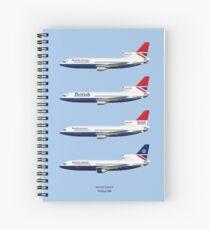 British Airways TriStar 500 1979 to 1988 Spiral Notebook