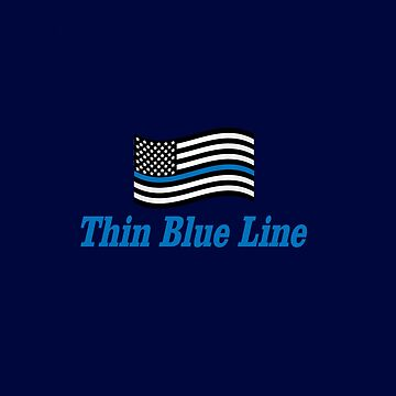 """""""Thin Blue Line"""" with Flag by Doty"""