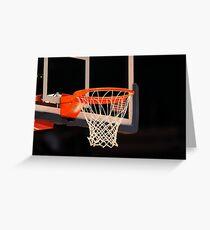 Basketball Net Greeting Card