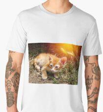 Little cute red kitten with big eyes Men's Premium T-Shirt