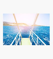Travel concept, sea water  Photographic Print