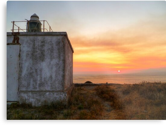 Lighthouse Sunset by Vicki Spindler (VHS Photography)